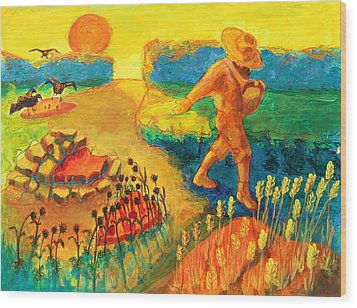 The Sower Painting By Bertram Poole Wood Print