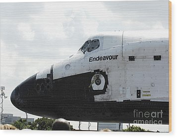 The Space Shuttle Endeavour 1 Wood Print by Micah May
