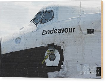 The Space Shuttle Endeavour 2 Wood Print by Micah May