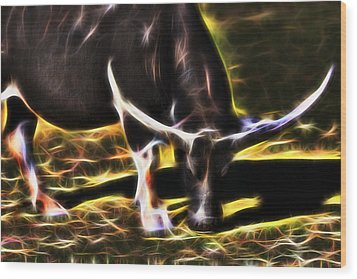 The Sparks Of Water Buffalo Wood Print