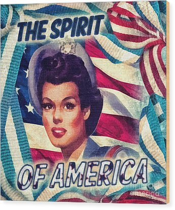 The Spirit Of America Wood Print by Mo T