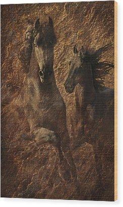The Spirit Of Black Sterling Wood Print by Melinda Hughes-Berland