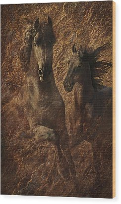 The Spirit Of Black Sterling Wood Print