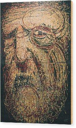 The Spirit Of Genius Wood Print by Kate Tesch