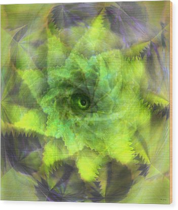 Wood Print featuring the digital art The Spirit Of The Jungle by Martina  Rathgens