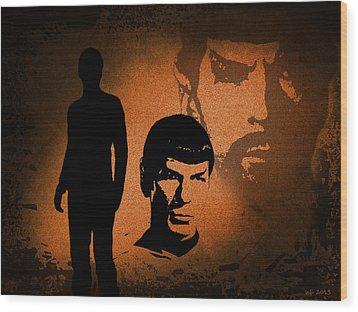 The Spocks Wood Print