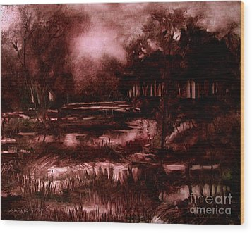 The Spring Eel Flooding Or Red And Green Don't Make Brown Wood Print by Charlie Spear