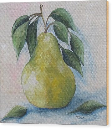 The Spring Pear Wood Print