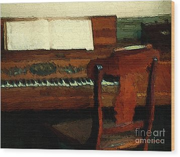 The Square Piano Wood Print by RC DeWinter