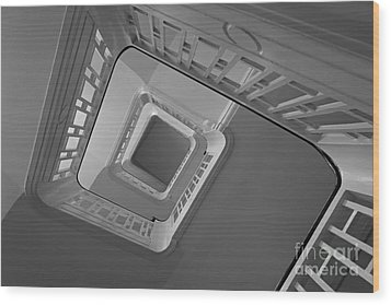 Wood Print featuring the photograph The Staircase by Inge Riis McDonald