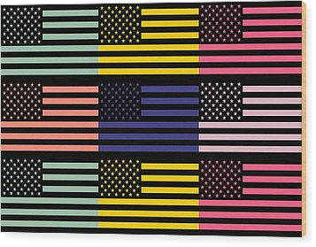 The Star Flag Wood Print by Tommytechno Sweden