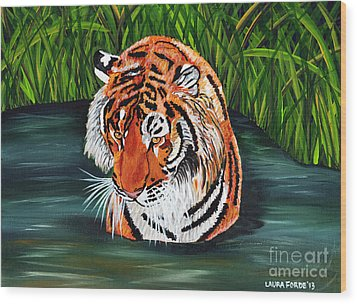 The Stare Wood Print by Laura Forde