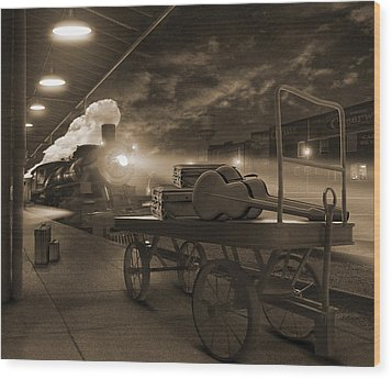 The Station 2 Wood Print by Mike McGlothlen
