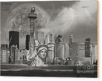 The Statue Of Sandy Wood Print by Karl Emsley