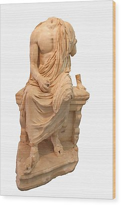 The Statue Of The Unidentified Philosopher Wood Print by Tracey Harrington-Simpson