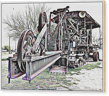 The Steam Shovel Wood Print by Glenn McCarthy Art and Photography