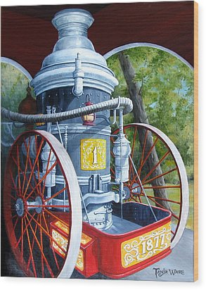 The Steamer Wood Print by Tanja Ware