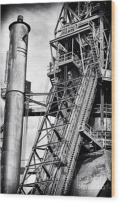The Steel Mill Wood Print by John Rizzuto