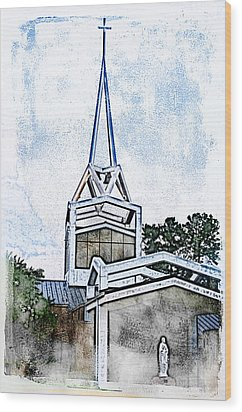 Wood Print featuring the digital art The Steeple by Davina Washington