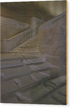 The Steps Out Of Sight Wood Print by Guy Ricketts