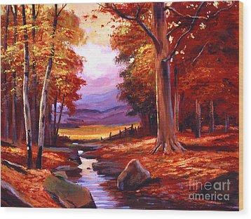 The Stillness Of Autumn Wood Print by David Lloyd Glover
