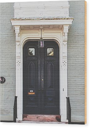 The Stockade Door In Schenectady New York Wood Print by Lisa Russo