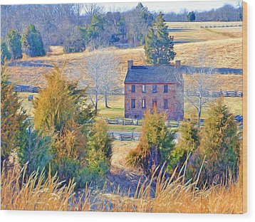 The Stone House / Manassas National Battlefield Park In Winter Wood Print