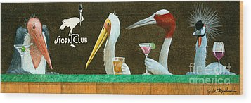 The Stork Club... Wood Print by Will Bullas