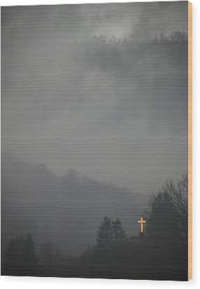 The Storm Is Over Wood Print by Ed Kelley