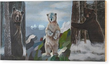 The Story Of The White Bear Wood Print by Jukka Nopsanen