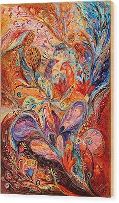 The Story Of Wild Iris Wood Print by Elena Kotliarker
