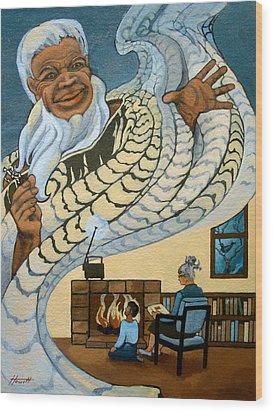 The Storyteller Wood Print by Patricia Howitt