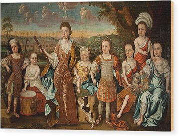 The Strachey Family, C.1710 Wood Print by English School