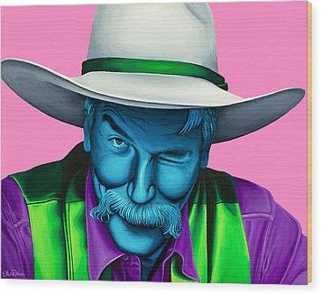 The Stranger- Color Edit- Wood Print by Ellen Patton