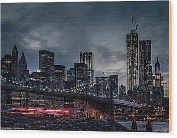 Wood Print featuring the photograph The Streaker In Nyc by Linda Karlin