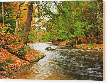 Wood Print featuring the photograph The Stream by Bill Howard