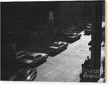 Wood Print featuring the photograph The Street by Steven Macanka