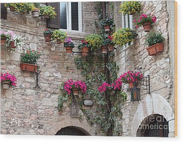 Wood Print featuring the photograph The Streets Of Assisi 2 by Theresa Ramos-DuVon