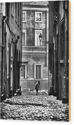 The Streets Of Roma Wood Print by John Rizzuto