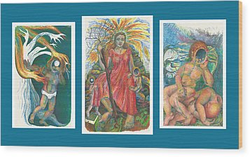 The Strength Tryptic Wood Print