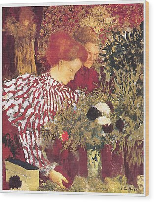 The Striped Blouse Wood Print by Edouard Vuillard