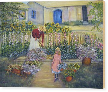 The Summer Garden Wood Print by Loretta Luglio