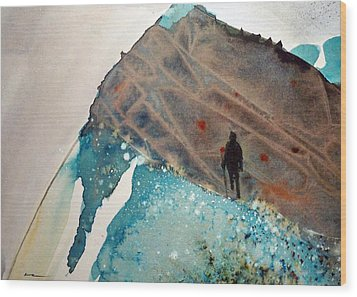 Wood Print featuring the painting The Summit by Ed  Heaton