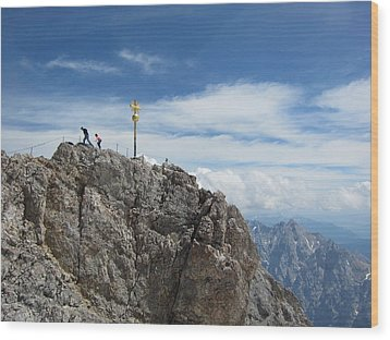 Wood Print featuring the photograph The Summit by Pema Hou