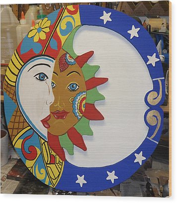 The Sun And The Moon Wood Print by Val Oconnor
