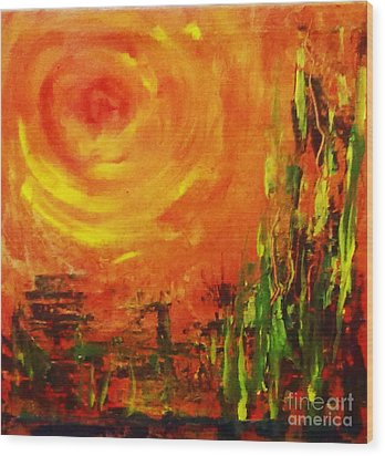 The Sun At The End Of The World Wood Print