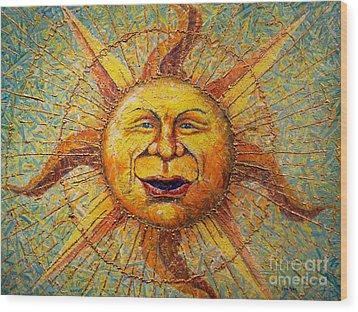 The Sun King Wood Print