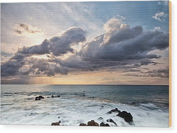 The Sun Looking Down Wood Print by Jon Glaser