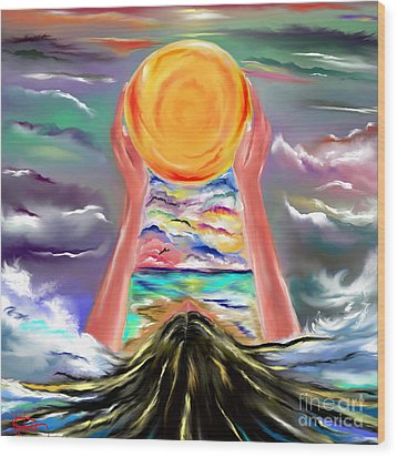 The Sun Will Shine Again Wood Print by Lori  Lovetere