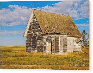 The Sunbeam Church Wood Print by Mary Carol Story
